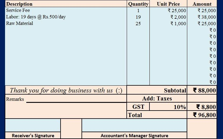 Download Invoice With Proposed GST in Union Budget 2017 Excel ...