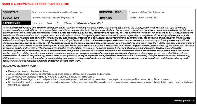 Assistant Chef Cover Letter
