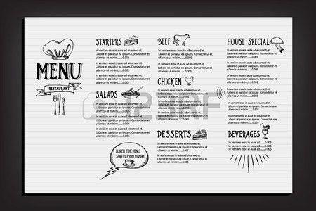 Restaurant Cafe Menu, Template Design Royalty Free Cliparts ...