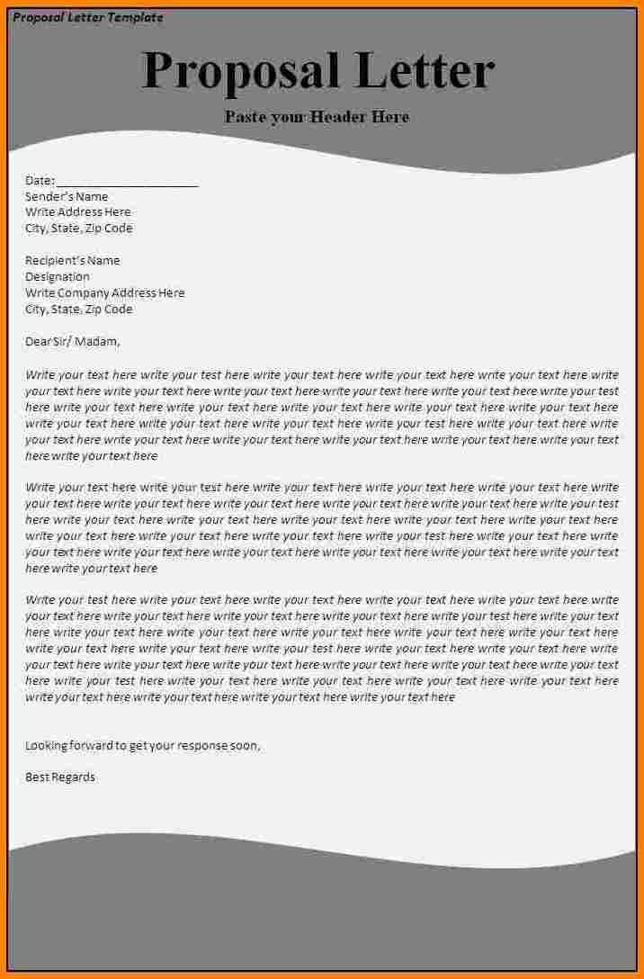 7+ proposal letter example | Proposal Template 2017