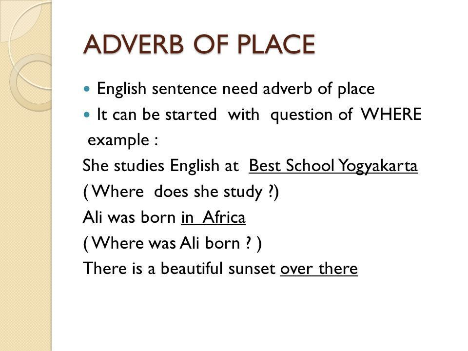 ADVERB ADVERB OF MANNER ADVERB OF FREQUENCY ADVERB OF TIME ADVERB ...