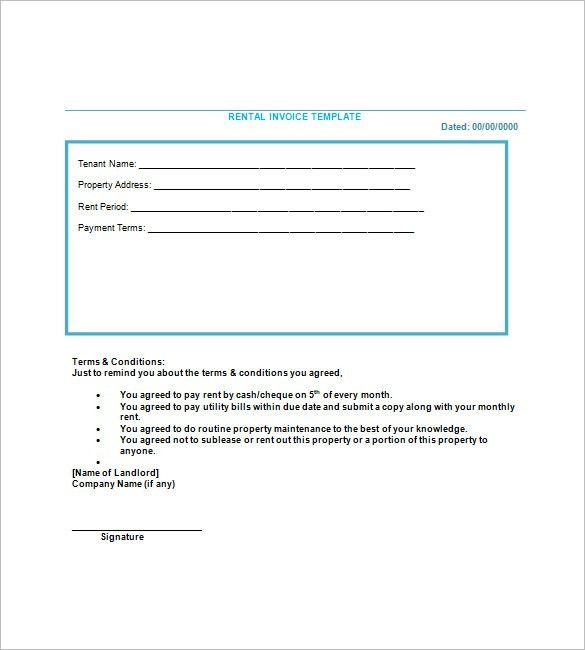 Lease Invoice Template - 8+ Free Sample, Example, Format Download ...