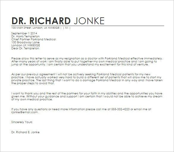Doctor Letter Template - 13+ Free Sample, Example, Format Download ...