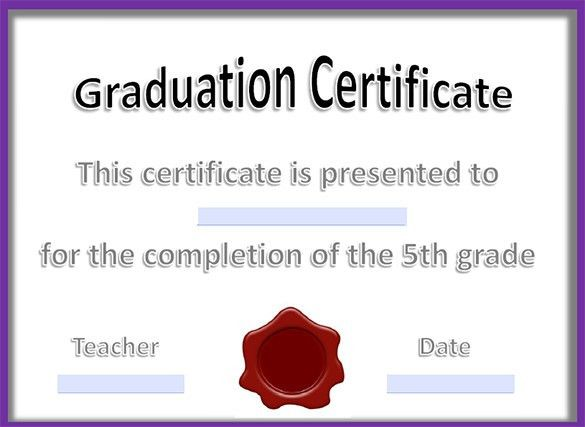 14+ Graduation Certificate Templates - Word, PDF Documents ...