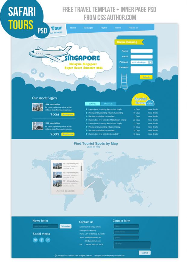 Travel #Web #Design #Template, #Free, #Layout, #PSD, #Resource ...