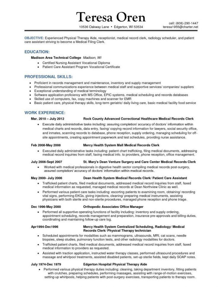 File Clerk Cover Letter | Enwurf.csat.co