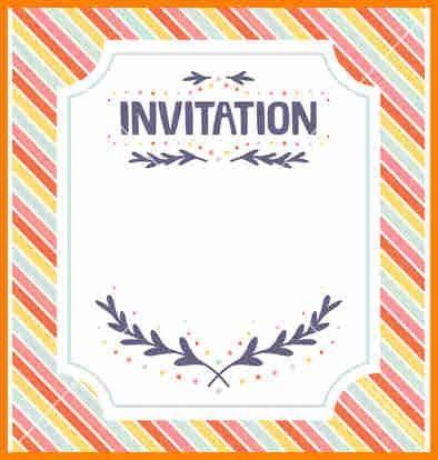 4+ free invitation template | budget template
