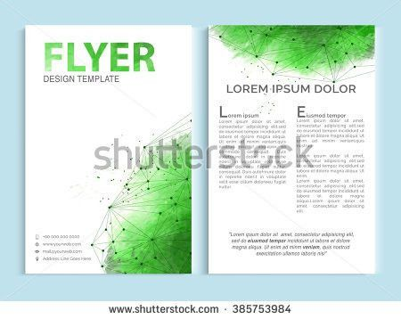 Creative Ecological Trifold Brochure Template Flyer Stock Vector ...