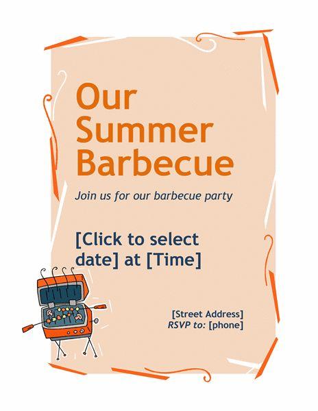 BBQ invitation flyer - Office Templates
