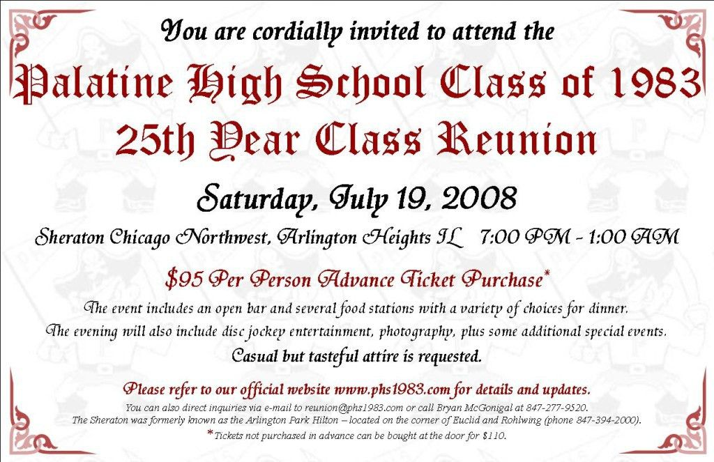 Examples Of School And Family Reunion Invitation Cards : emuroom