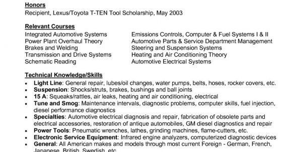 Auto Mechanic Resume Objective Examples Auto Mechanic Resume ...