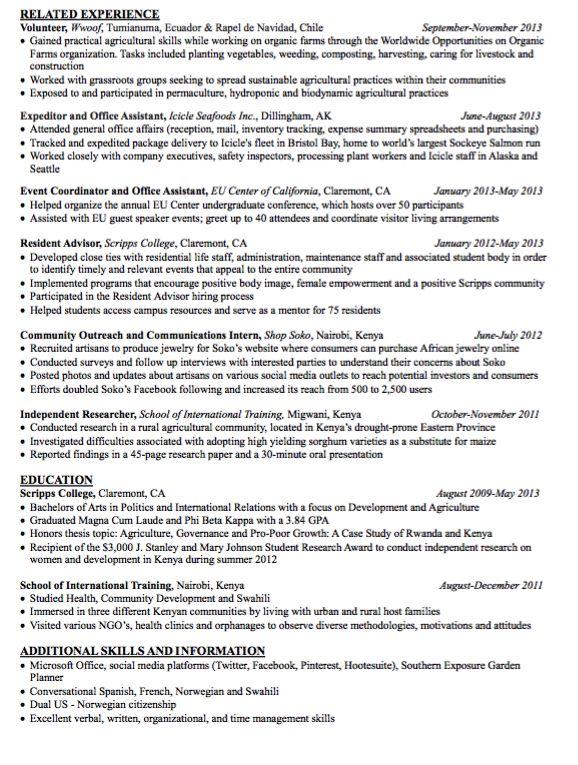 Sample Resident Advisor Resume - http://exampleresumecv.org/sample ...