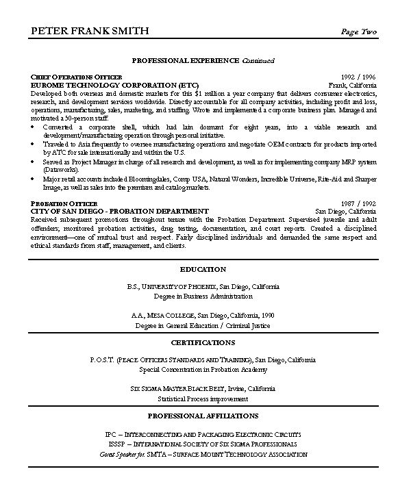 Resume Sample 7 - Vice President resume - Career Resumes