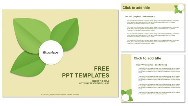 Green Leaf-Abstract PowerPoint Templates