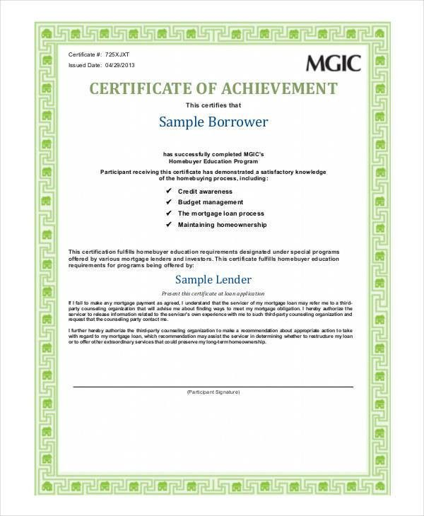 Certificate Of Achievement Template - 6+ Free PDF Documents ...