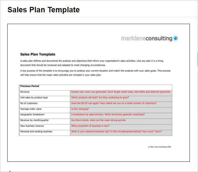 Wonderful Sales Plan Template   Free Word, Form, PDF Documents | Creative .