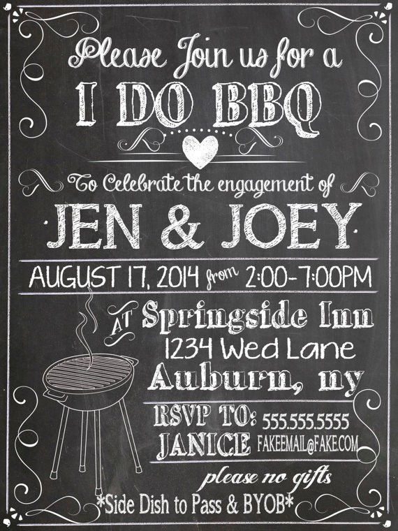 I Do BBQ Invitations For Weddings | Glitter 'N Spice