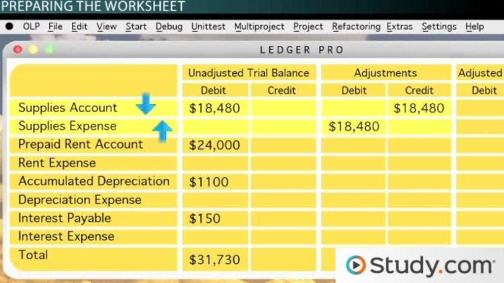 Adjusted Trial Balance: Definition, Preparation & Example - Video ...