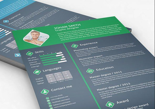 20+ Free Resume Design Templates for Web Designers | Elegant ...