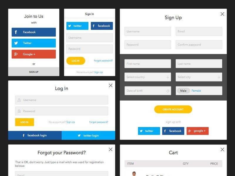Create Account Form Template Sketch freebie - Download free ...