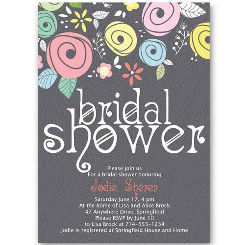 Printable spring country floral bridal shower invitations online ...