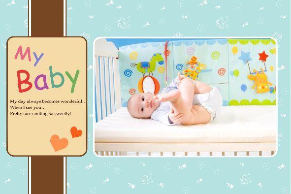 Free photo templates - My Baby Album 3