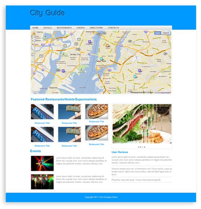 City Guide Template - Templates - DMXzone.COM