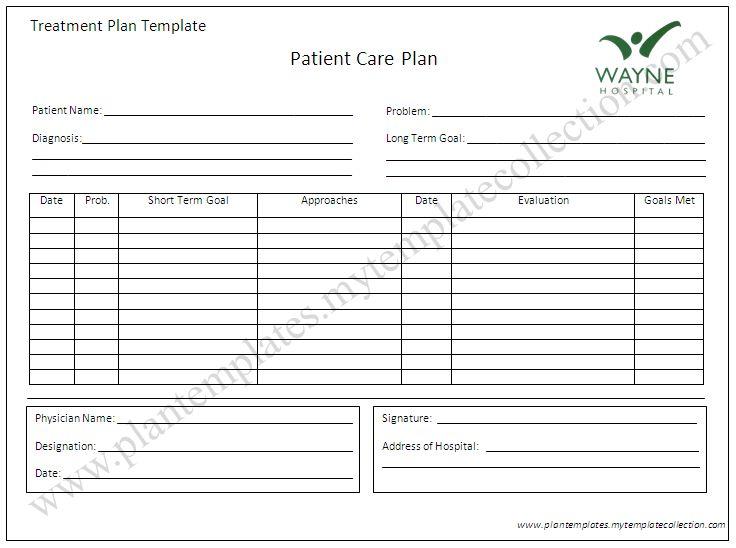 Treatment Plan Template | tristarhomecareinc