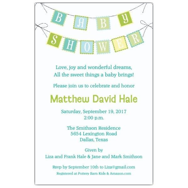 Baby Shower Party Invitation Wording | THERUNTIME.COM