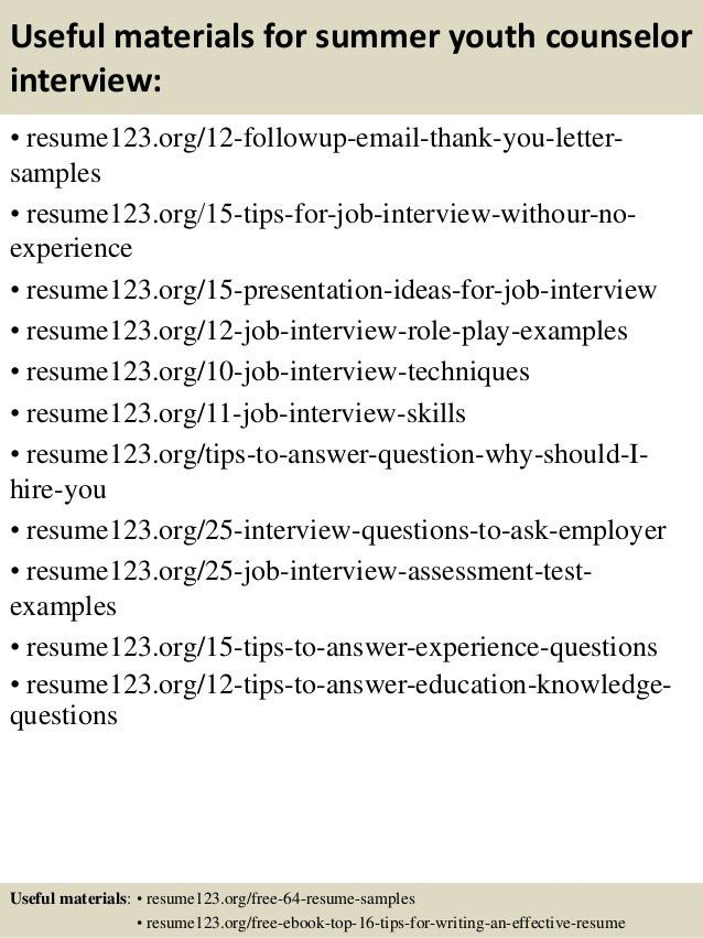 ymca counselor cover letter executive summary outline examples ...