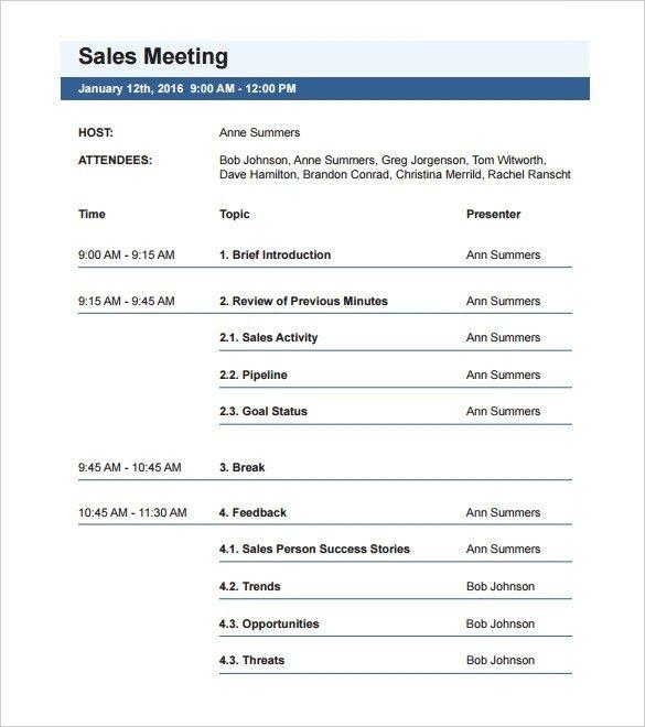 Meeting Agenda Template - vnzgames