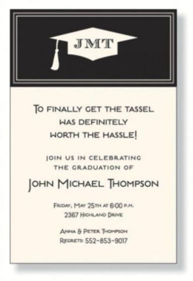 Graduation Invite Wording For You | THEWHIPPER.COM