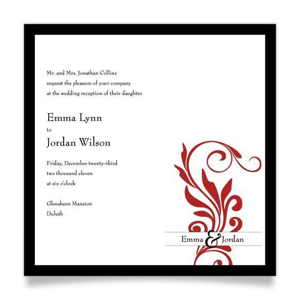 Reception Invitation Template. Free Downloadable Wedding ...