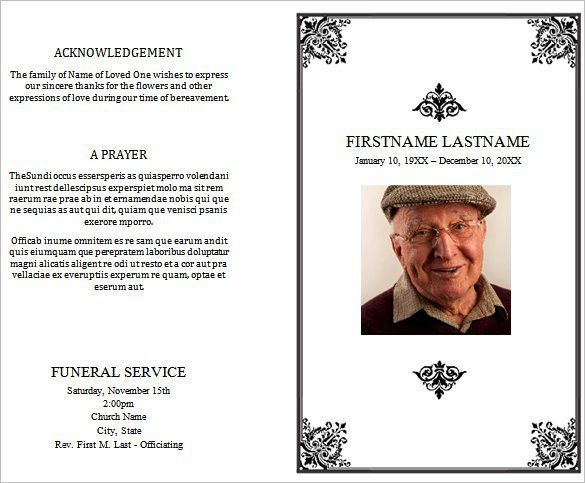 free funeral program sample 7941 | funeral | Pinterest | Funeral ...