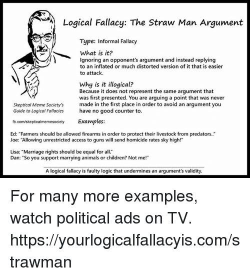 ✅ 25+ Best Memes About Straw Man Argument | Straw Man Argument Memes
