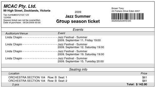 InterTicket online event ticketing system software - Demo
