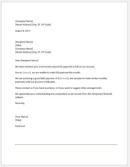Best Good Faith Letter Sample Pictures - Best Resume Examples for ...