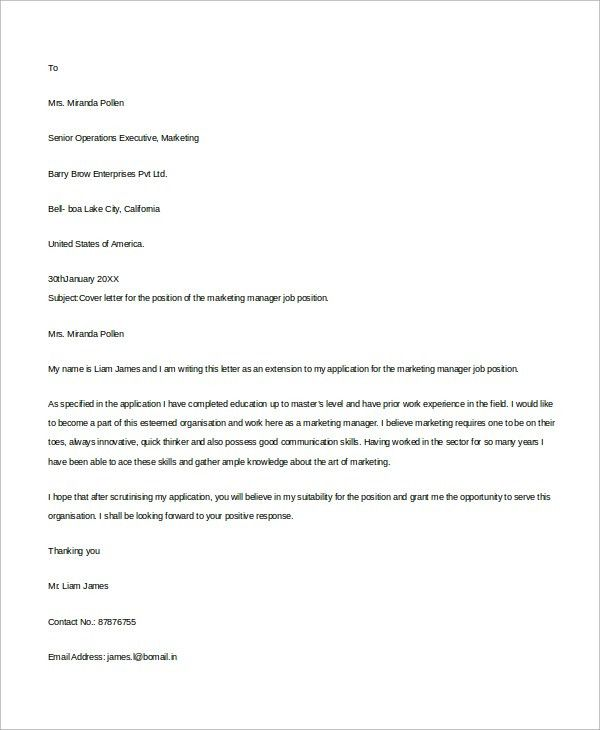 Cover Letter Example For Job. Cover Letter Template For Resume For ...