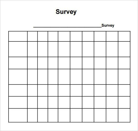 Sample Blank Survey - 6+ Documents in PDF, Word