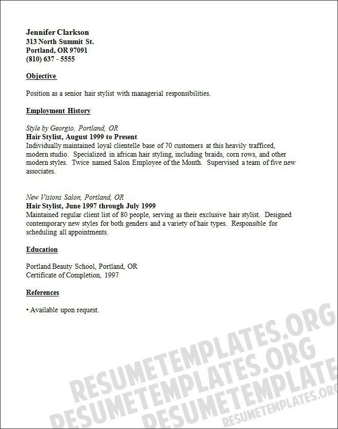 Resume Examples. top 10 hair stylist resume template downloads ...