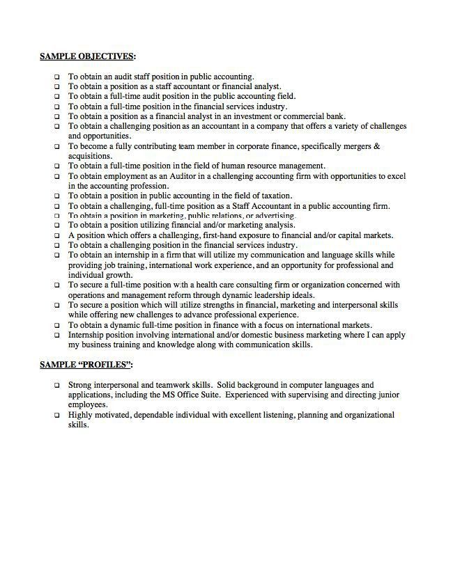 The Objective On A Resume. the objective on a resume 19 good ...