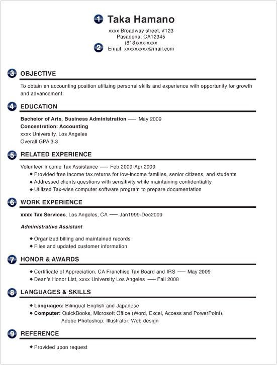 4. choose create my resume professional profile section resume ...