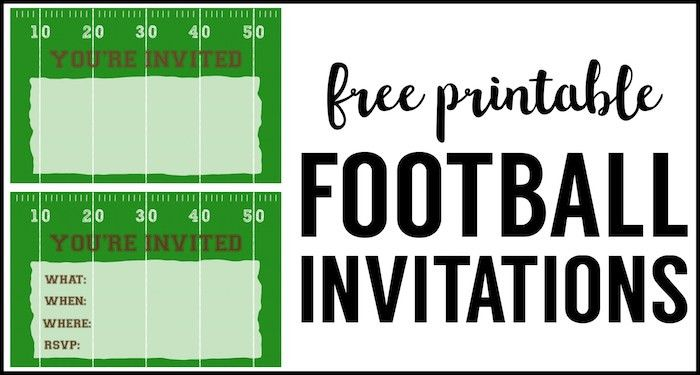Football Party Invitation Template {Free Printable} - Paper Trail ...