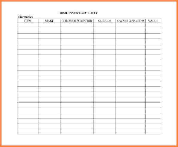 5+ spreadsheet inventory template | Excel Spreadsheets Group