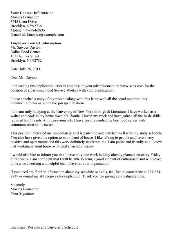 Fancy Inspiration Ideas Cover Letter For Food Service 14 Letter ...