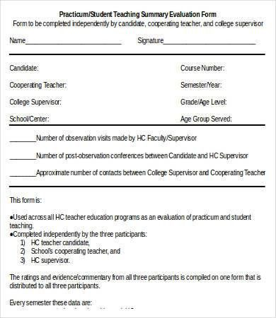 Teacher Evaluation Form - 10+ Free Word, PDF Documents Download ...
