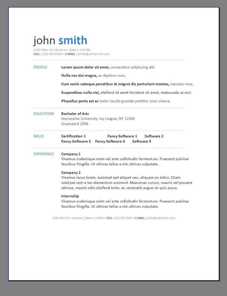 Microsoft Free Resume Template. Download Free Resume Builder 50 ...