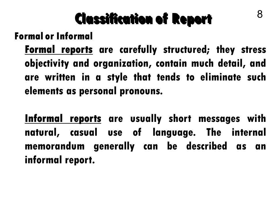 Business Communication 1. Model Business Reports 2 A Model Report ...