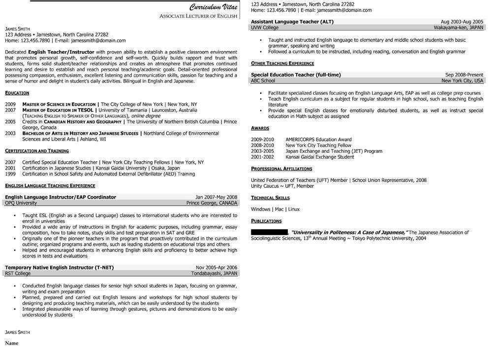 Cool Inspiration Professor Resume 16 Sample Civilian And Federal ...