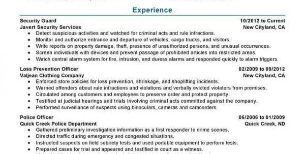 Loss Prevention Officer Resume Loss Prevention Resume Resume ...